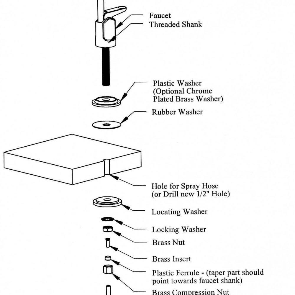 Long Reach Faucet - Air Gap for RO #WA-FT ¼ AG - Aqua Belle